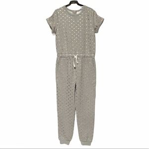 NWT Blush by Us Angels Gray Jumpsuit With Hearts